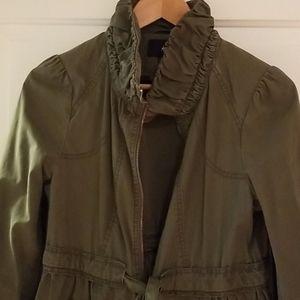 H&M army green cotton jacket sz 8